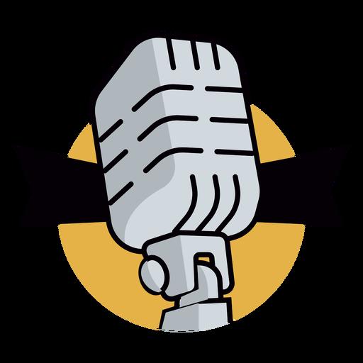 Logotipo de micrófono de radio Transparent PNG