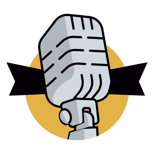 Radio microphone logo Transparent PNG