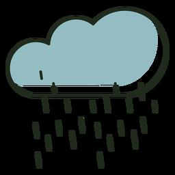 Logotipo da nuvem chovendo