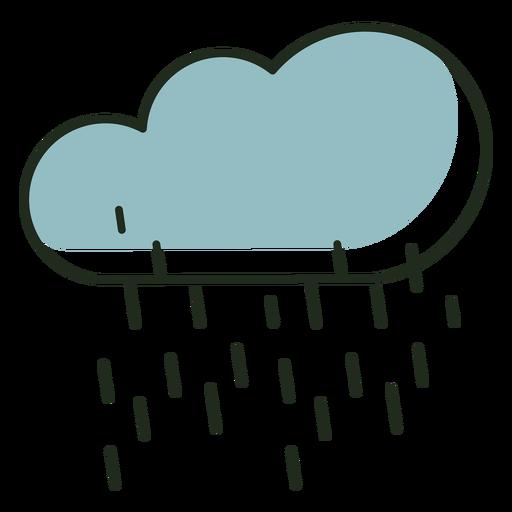 Raining cloud logo Transparent PNG
