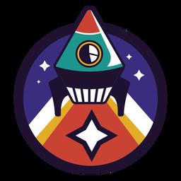 Logotipo de cohete volador