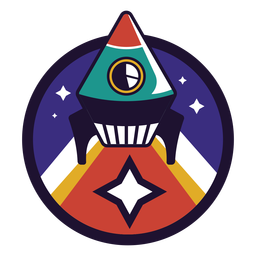 Rocket flying logo
