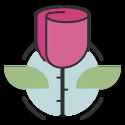 Logotipo de flor rosa