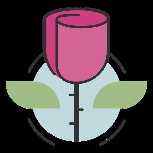 Logotipo de flor rosa Transparent PNG