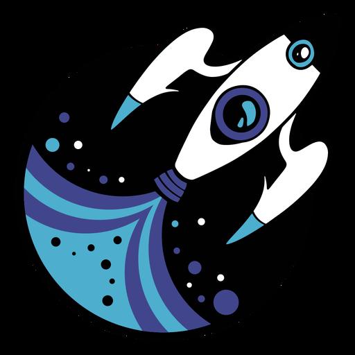 Spaceship flying logo