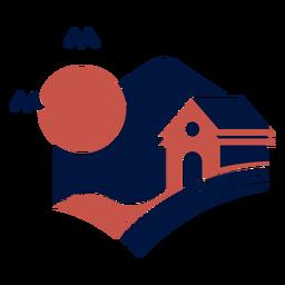Granero estable en el logo de la noche
