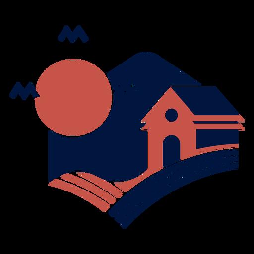 Stable barn at night logo