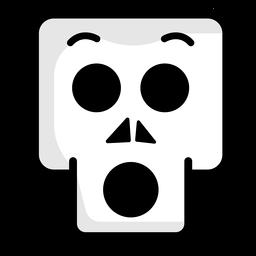 Surprised skull illustration logo