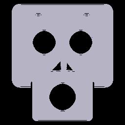 Logo de silueta de calavera sorprendida