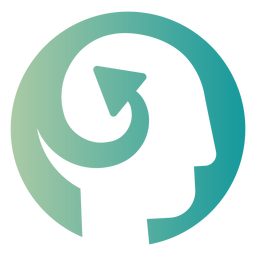 Swirled arrow in head logo