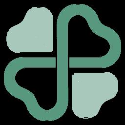 Logotipo de trébol simétrico