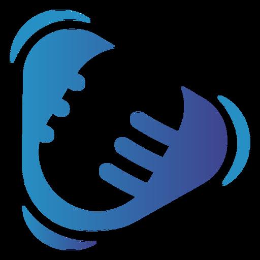 Talking radio microphone logo