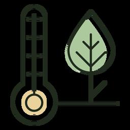 Thermostat next to tree logo