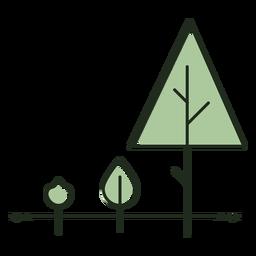 Logotipo de etapas de crecimiento de árboles