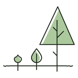 Tree growing stages logo