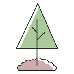 Árbol plantado en logo de tierra