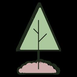 Logotipo de árvore plantada em terra