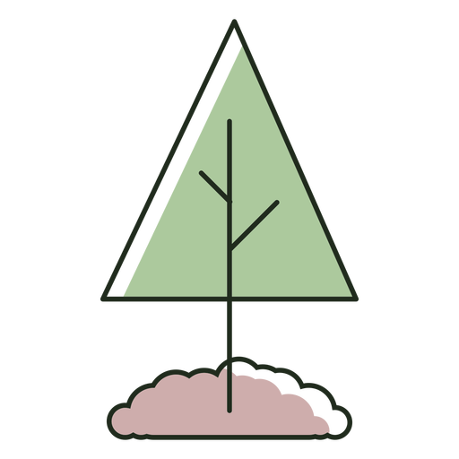 Tree planted in dirt logo Transparent PNG