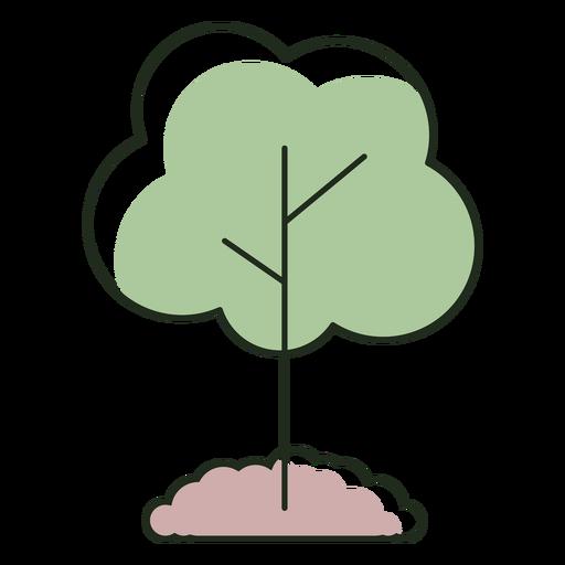 Logotipo de ?rbol plantado