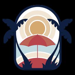Logotipo de puesta de sol tropical