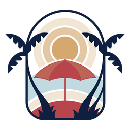Tropical sunset logo