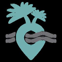 Tropical travel spot logo