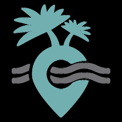 Logotipo de lugar de viaje tropical