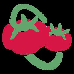 Logotipo de dos tomates