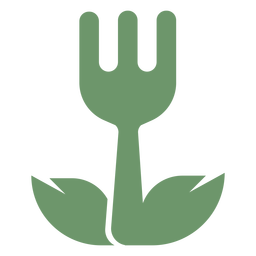 Logotipo de restaurante vegetariano