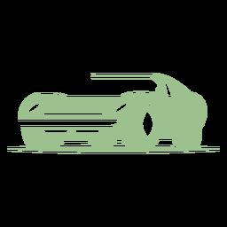 Logotipo de coche rápido vintage