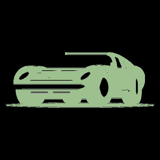 Vintage fast car logo Transparent PNG