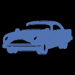 Logotipo de coche deportivo vintage