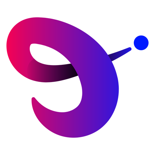 Violet abstract lines logo