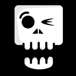 Winking skull illustration logo