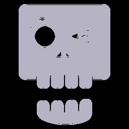 Winking skull silhouette logo