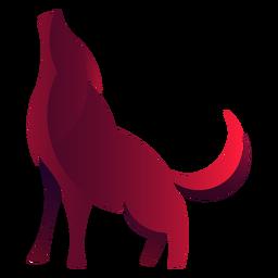 Logotipo do lobo uivando
