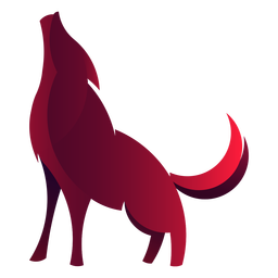 Wolf howling logo