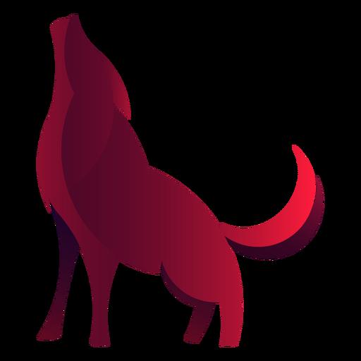 Logotipo de lobo aullando