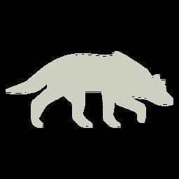 Logotipo de slihouette de olfateo de lobo