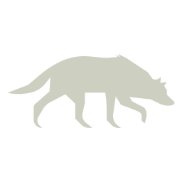 Wolf sniffing slihouette logo