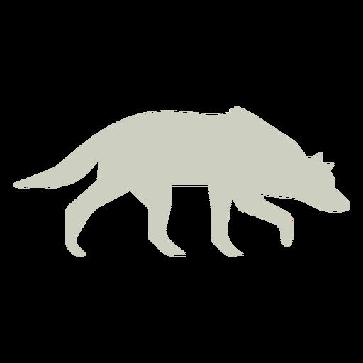 Wolf sniffing slihouette logo