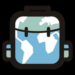 Logotipo de equipaje de mapa mundial