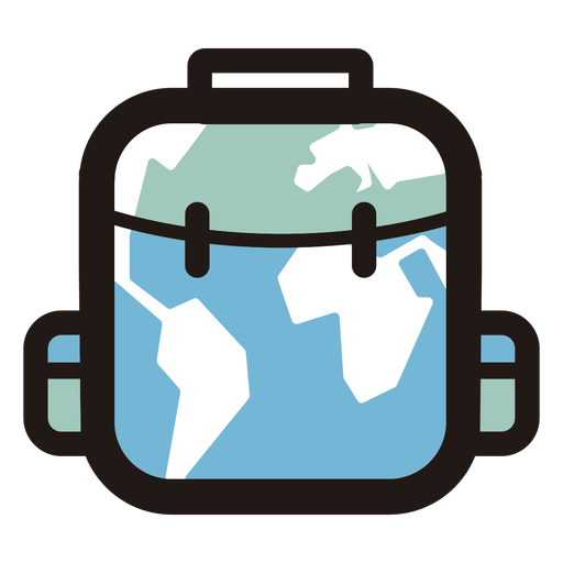 World map luggage logo Transparent PNG