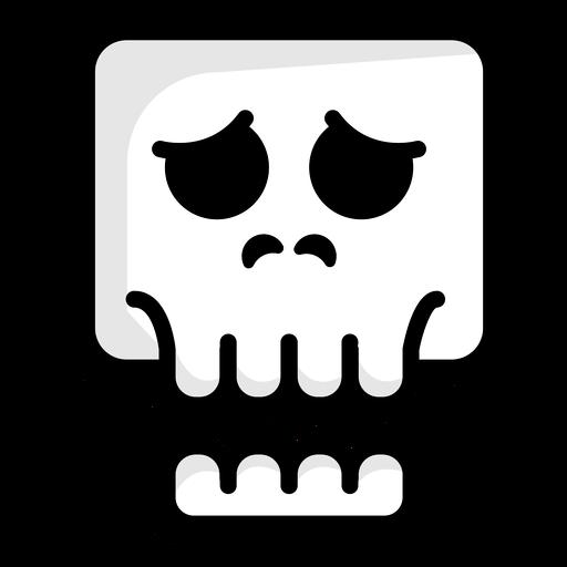 Logotipo de ilustración de cráneo preocupado Transparent PNG