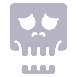 Worried skull silhouette logo