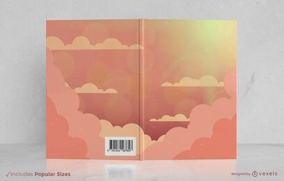Cloudy sky book cover design