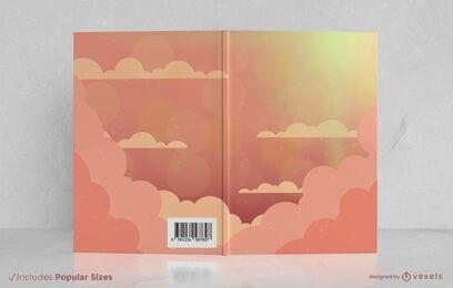 Diseño de portada de libro de cielo nublado