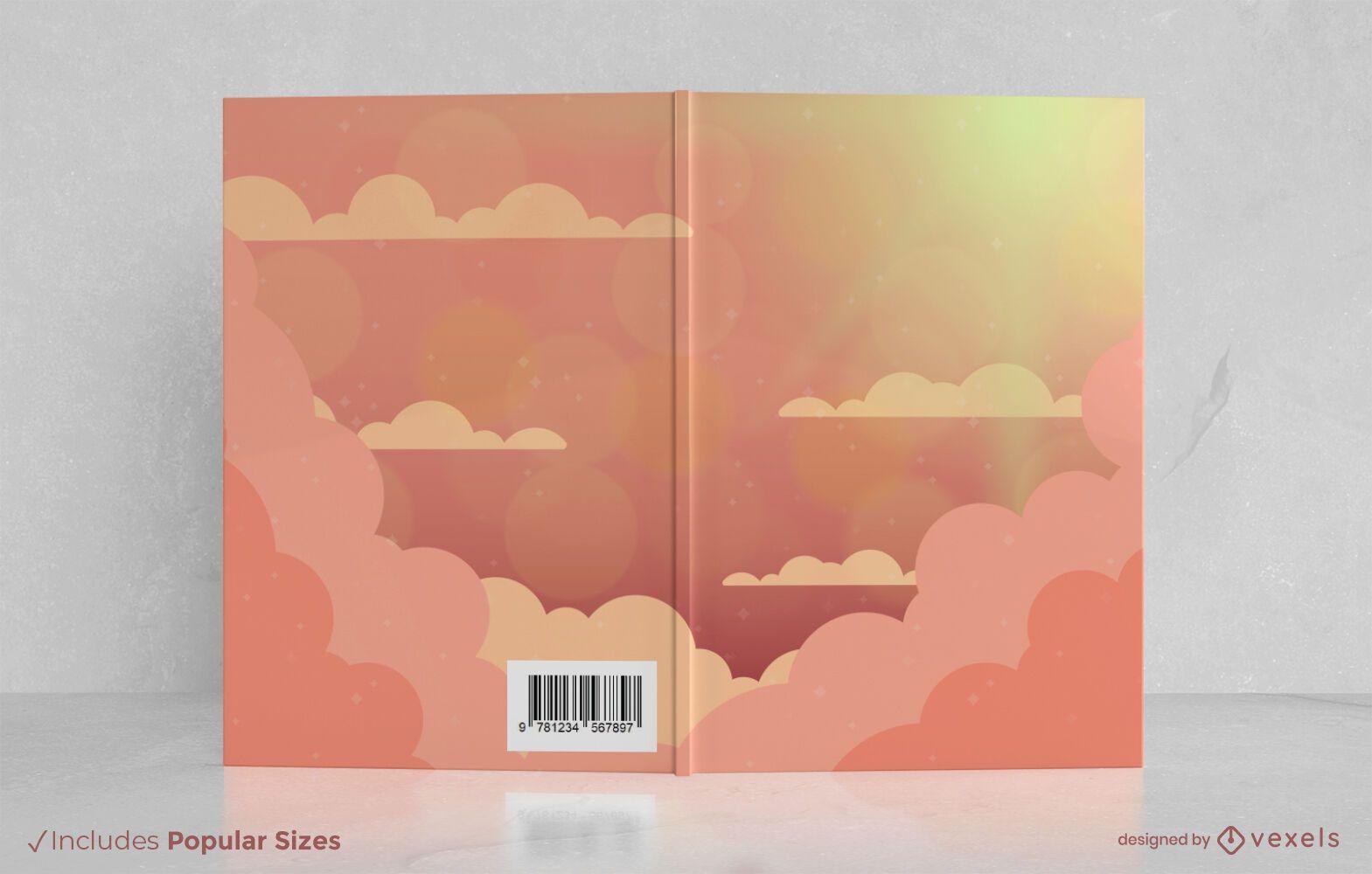 Cloudy sky book cover design