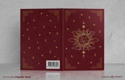 Diseño de portada de libro mágico vintage