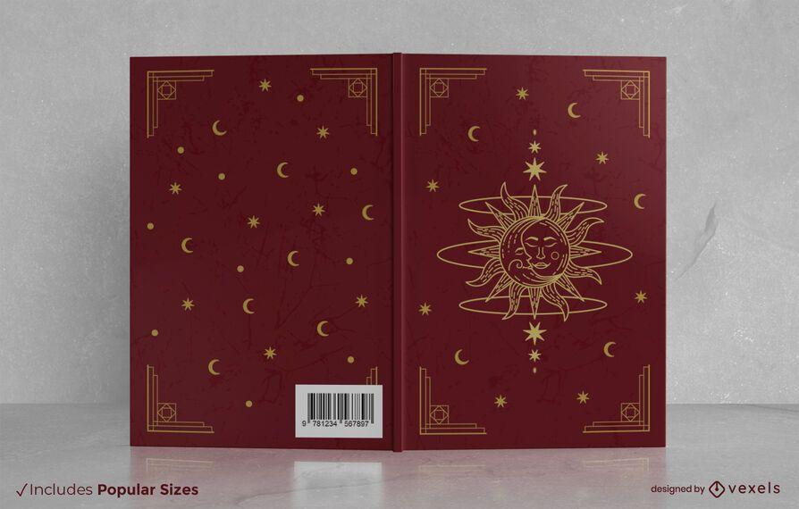 Design de capa de livro mágico vintage